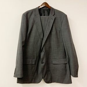 Alfani Triple Button Double Pocket Grey Two Piece
